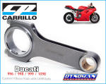 Carrillo Rods for Ducati at Dynoman